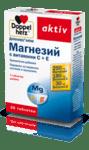 Допелхерц Актив Магнезий, Витамин С и Витамин Е таблетки x30 (Doppelherz)